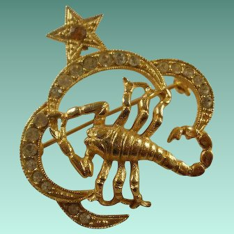 Retro Era St. Labre Scorpion Brooch
