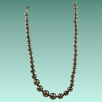Sterling Mexico Bench Bead on Chain Necklace