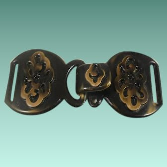 Vintage Over Dyed Large Celluloid Buckle