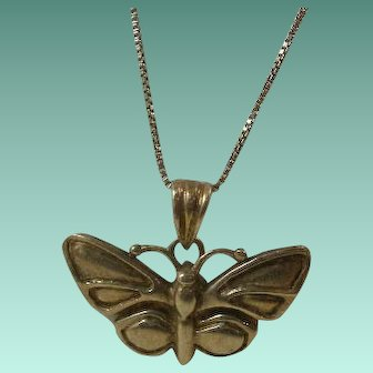 Sterling Butterfly Pendant on Sterling Chain