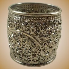 Gorgeous Vintage Wide Sterling Silver Napkin Ring