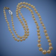 "Vintage 14k Knotted Cultured Pearl 18""  Necklace"