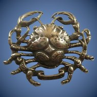 "Cini Sterling Crab ""Cancer"" Brooch"