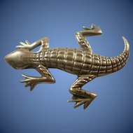 South Western Sterling Silver Lizard Brooch