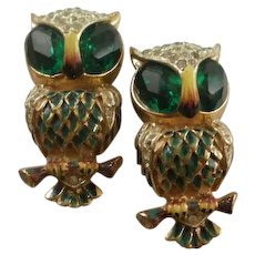 Sterling Coro Craft Owl Fur Clips For Duette