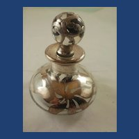 Vintage Sterling Silver Overlay Perfume Bottle