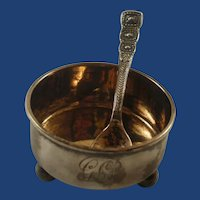 Tiffany & Co. Sterling Silver Salt and Salt Spoon