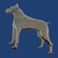 Vintage Sterling Silver Boxer Dog Pin