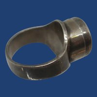 """Vintage Modernist Sterling Silver """"Poison Ring"""""""