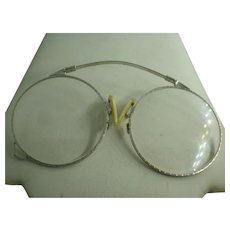 Vintage Rhodium Plate Pince-Nez Spectacles