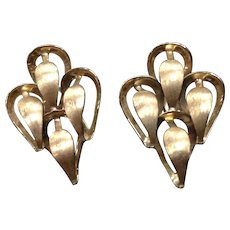 Sculptural 14K Yellow Gold Earrings