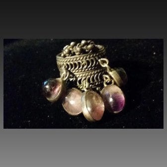 Taxco Mexico Sterling & Amethyst pendant  Ring