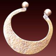 Minimalist Hand Beaten Brass Bracelet