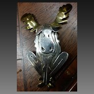 Mixed Metal Far Fetched Moose Brooch
