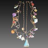 Lucy Isaacs Enamel Travel Charm Necklace