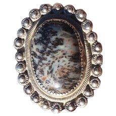Older Navajo Petrified Wood & Silver Ring