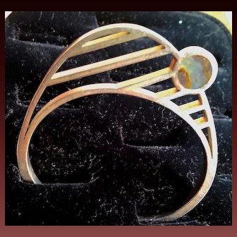 Westermark Silver Minimalist Bracelet w/ Abalone
