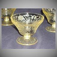 Hazel Atlas Depression Glass Florentine II Footed Sherbet