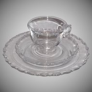 Fostoria Century 3 piece Snack place setting - 4 sets available