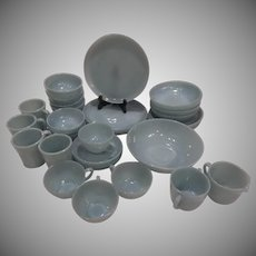 20% Off Sale!   RARE Turquoise 35 Pc Fire King (4) 8 Pc Place Settings