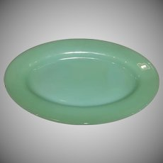 Fire King Jadeite Restaurant Ware Oval Football Platter- 2 Available