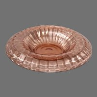 Anchor Hocking Pink Block Optic Console Bowl