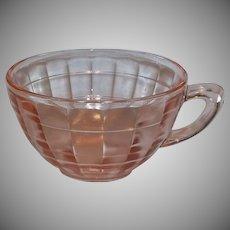 Pink Depression Anchor Hocking Block Optic Cups