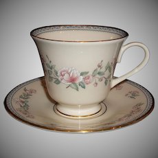 Lenox China USA Footed Cup & Saucer Sets, Serenade
