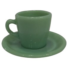 Fire King Jadeite Restaurant Ware Coffee Mug/ Cup & Saucer set-2 available