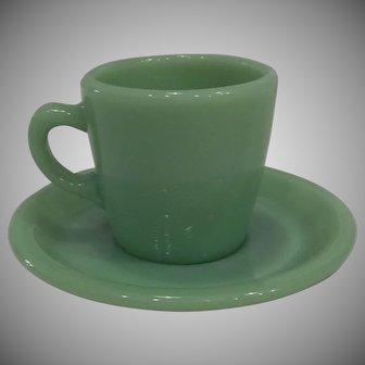 Fire King Jadeite Restaurant Ware Coffee Mug/ Cup & Saucer set-2 available