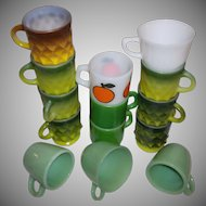 Fire King Anchor Hocking 14 Mug Assortment