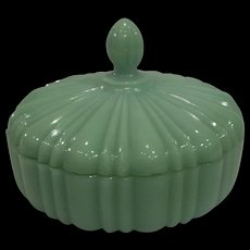 RARE - Fire King Jadeite Candy Dish