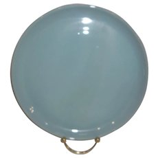 """Fire King Turquoise Blue 9"""" Dinner Plate"""