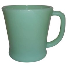 Fire King Jadeite 'D' Handle Mug