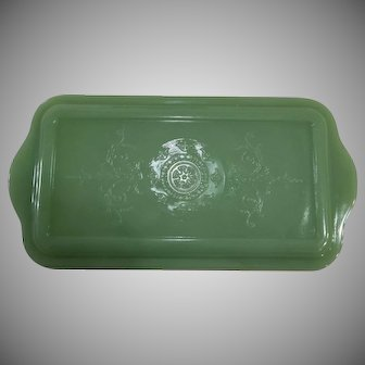 Fire King Jadeite Refrigerator Dish Lid Only
