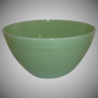 Fire King Jadeite Jane Ray Ribbed Salad Bowl