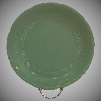 Fire King Jadeite Alice Dinner Plates,  1940's Lot of 2