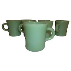 Fire King Jadeite C Handle HEAVY Mug Restaurant Ware