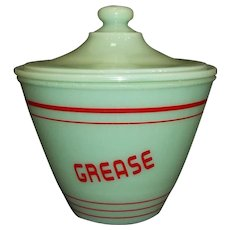 Jadeite Grease Jar With Lid