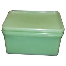 McKee Vintage Jadite Refrigerator or Grease Container
