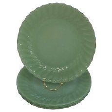 Fire King Jadeite Shell Dinner Plates – lot of 4