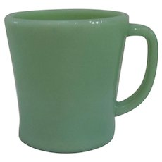 Fire King Jadeite 'D' Handle Mug 1950's - 2 available