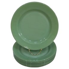 Fire King Jadeite Restaurant Ware Dinner Plates