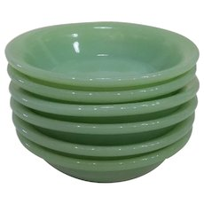 Fire King Jadeite Restaurant Ware Berry Bowls lot of 6, 1950's