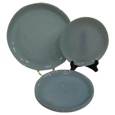 """Fire King Turquoise Blue 4 pc Plate Set with 10"""""""