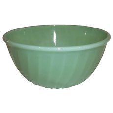"Fire King Jadeite 9"" Swirl Nesting Bowl"