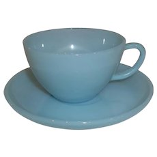 Fire King Turquoise Cup & Saucers – 3 Sets Available