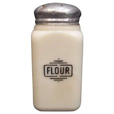 McKee Flour Custard Small Box Shaker, 1930's