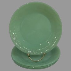 Fire King Jadeite Jane Ray Salad Plate Lot of 4