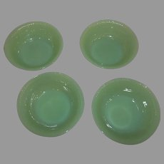Fire King Jadeite Jane Ray Berry Bowls - Lot of Four